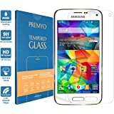 PREMYO verre trempé S5 mini. Film protection Galaxy S5 mini avec un degré de dureté de 9H et des angles arrondis 2,5D. Protection écran S5 mini