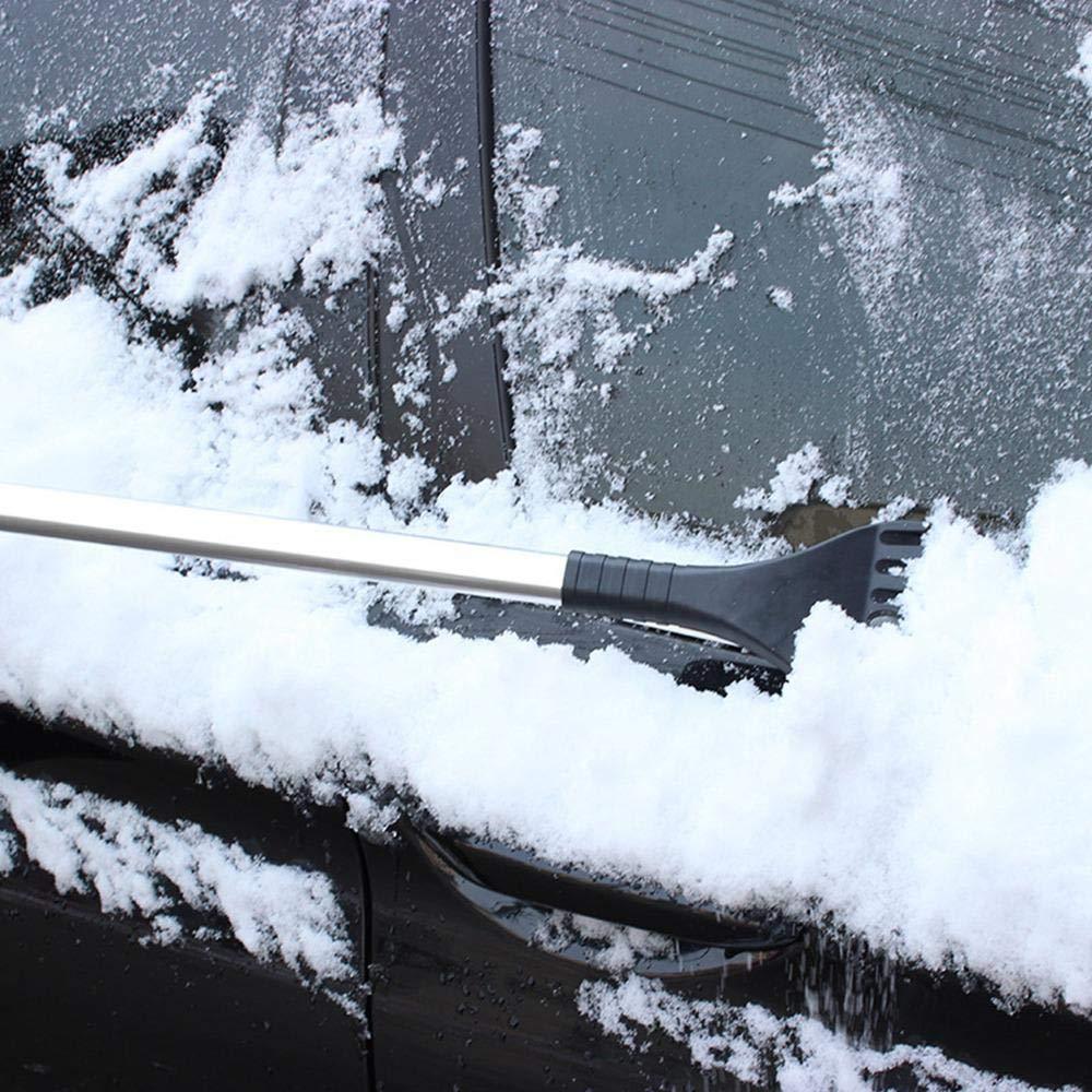 KOBWA Extendable Snow Brush and Ice Scraper,2-in-1 Snow Broom for Cars SUVs,Blue Trucks