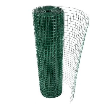 Cuadrado Weld a la malla y AL de plástico verde 0,9 m x 6 m acabado ...