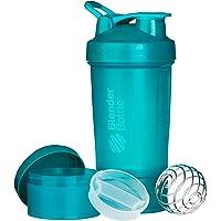 Blender Fles ProStak - 22oz Protein Shaker Cup Water Bottle incl 150cc en 100cc Pot, Teal,650 ml