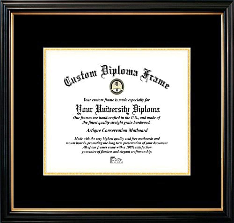 Amazon Com Campus Images Pbgtbg018511 Petite Certificate Frame With Black Gold Trim And Mats 8 5 X 11