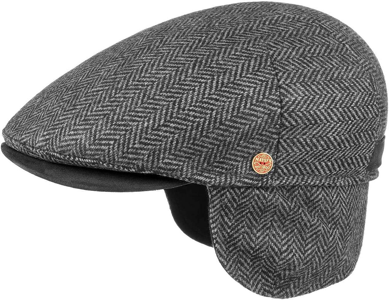 Mayser Flatcap mit Ohrenschutz Schieberm/ütze Schirmm/ütze M/ütze Ohrenklappen Schirm