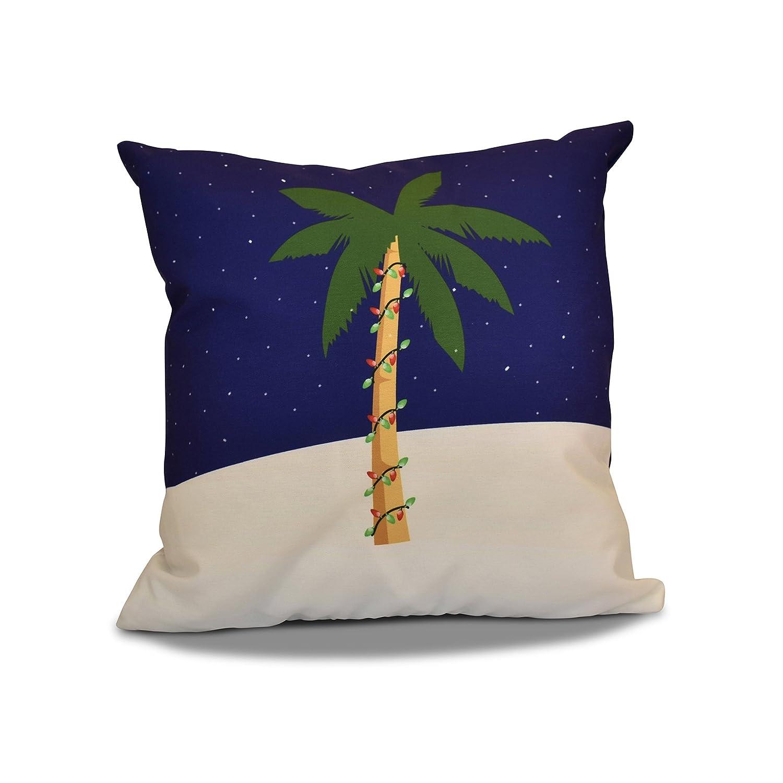 E by design O5PHGN645BL8-20 Printed Outdoor Pillow