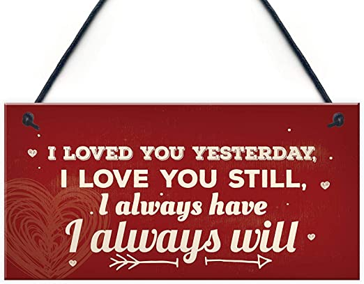 Forever And Always Wall Hanging Plaque Valentine Gift Retro Love Sign Present