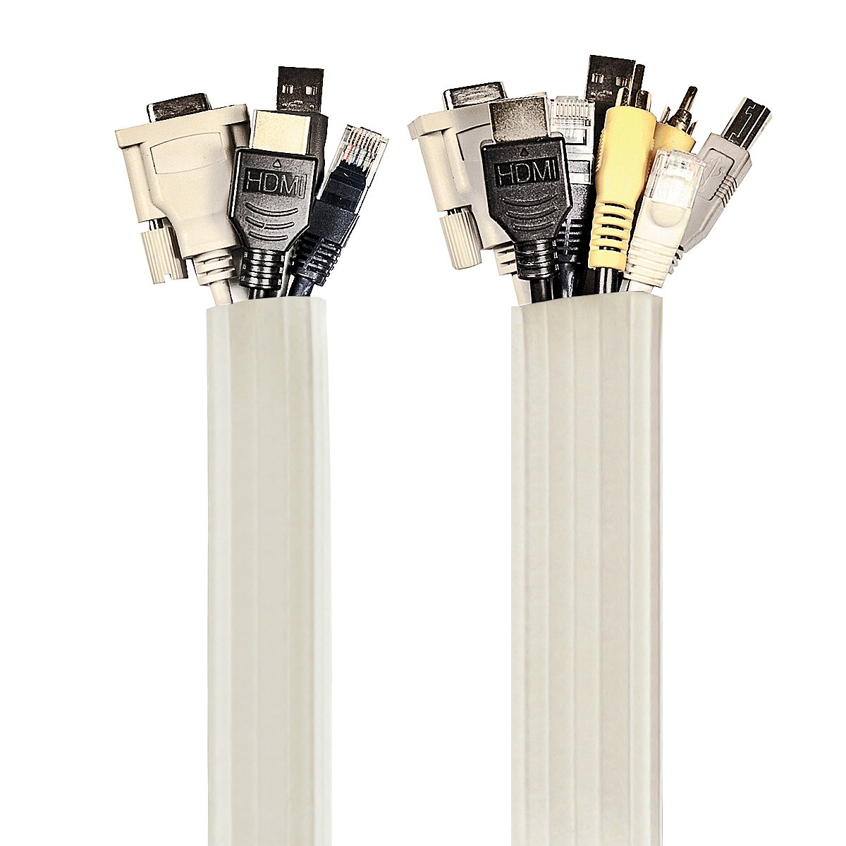 UT Wire UTW-FCW12-WH Expandable Flexi Cable Wrap, 12-Feet, White ...