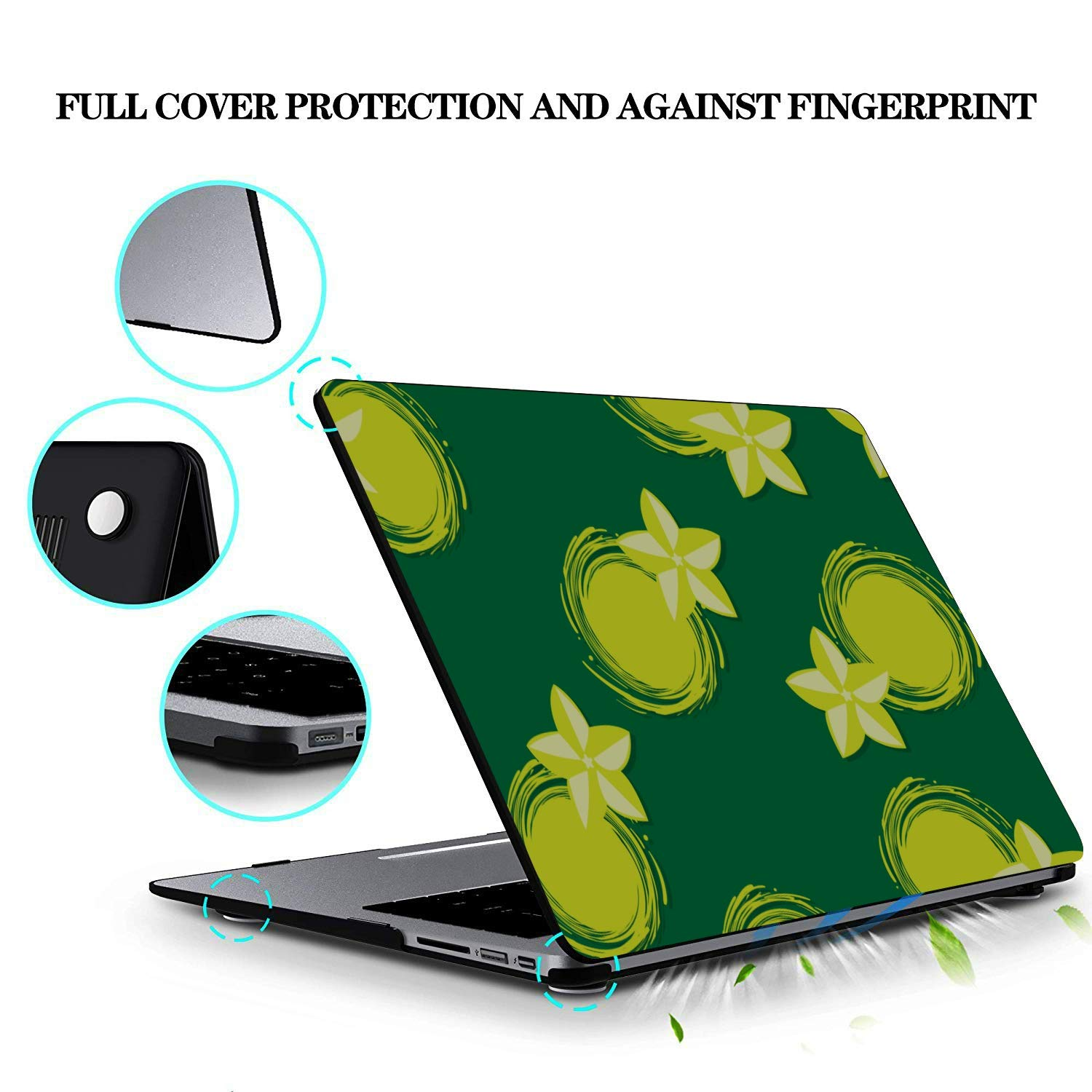 MacBook Accessories 13 Inch Rustic Fashion Cute Fruit Carambola Plastic Hard Shell Compatible Mac Air 11 Pro 13 15 Computer Case Protection for MacBook 2016-2019 Version