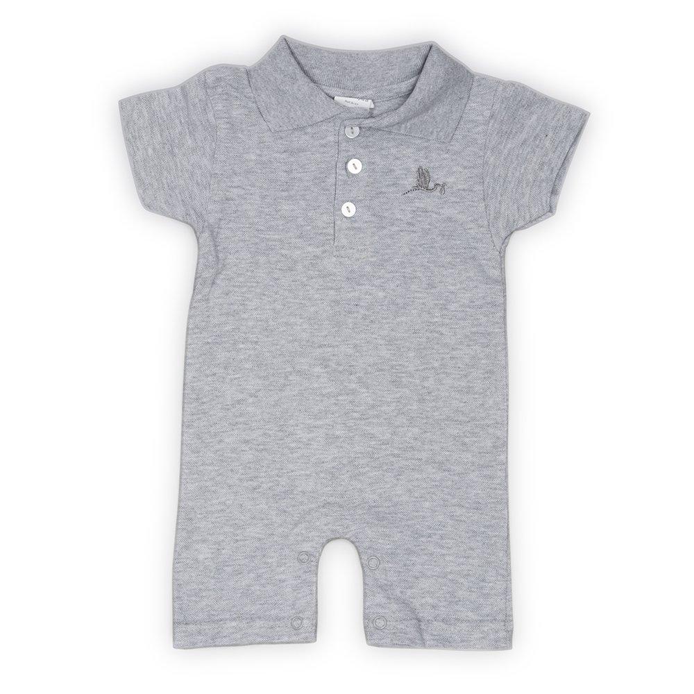 Polo Body Verano- regalo para bebé- BebéDeParis- Gris- Talla: 3-6 ...