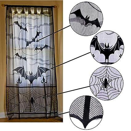Zhongke Víspera de Todos los Santos Cortinas de araña de Encaje Estufa de Encaje de telaraña