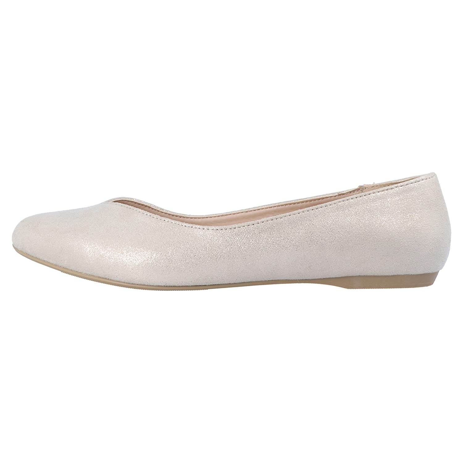 New Look Wide Fit Wide Fit Janet 3 Damen Ballerinas Gold