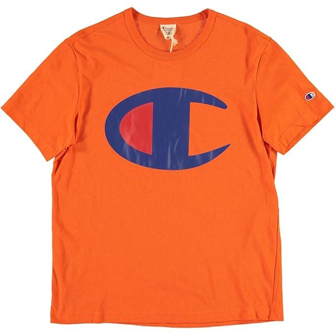 Champion - Camiseta - para Hombre Arancione XS: Amazon.es: Ropa y accesorios