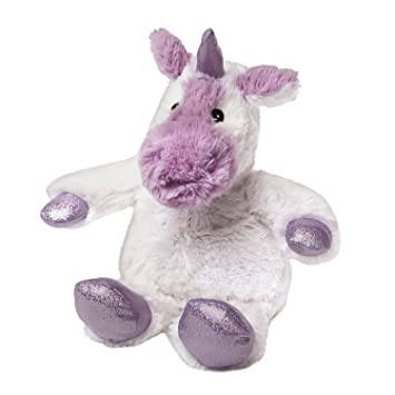 Warmies - Unicornio, Peluche térmico, Color Blanco (T-Tex 117)
