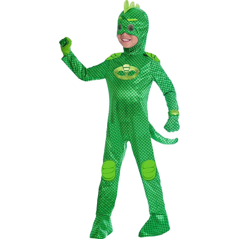 Disfraz de Gekko para máscaras PJ de Childrens Size Deluxe Medium (5-6 years): Amazon.es: Juguetes y juegos