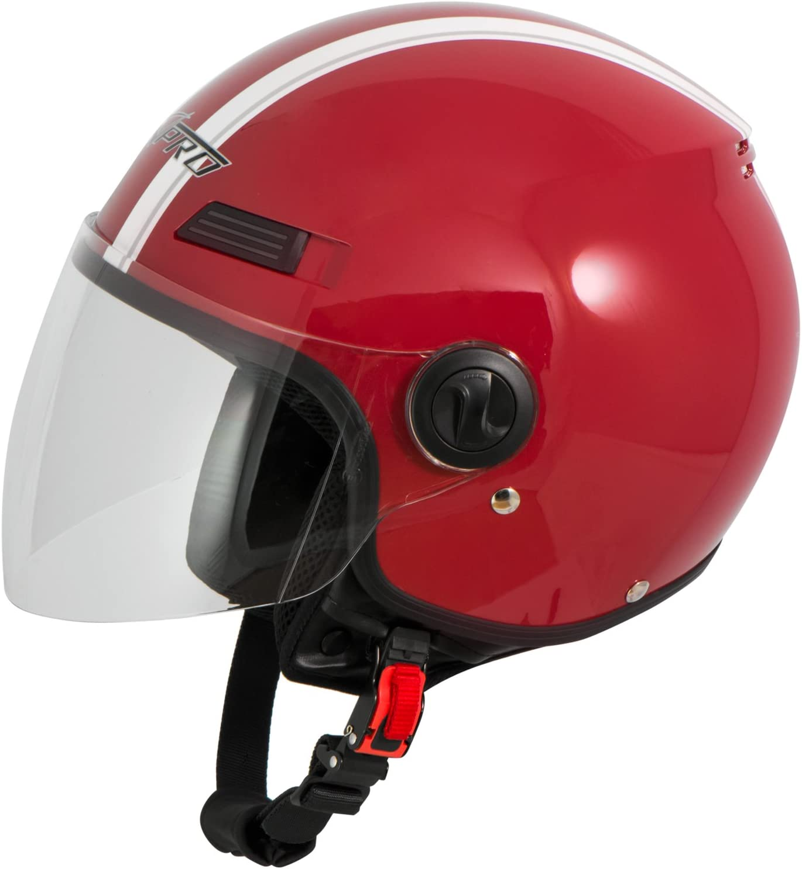 Casco Jet Scooter Moto Quad Omologato ECE 22 05 Visiera Argento XL