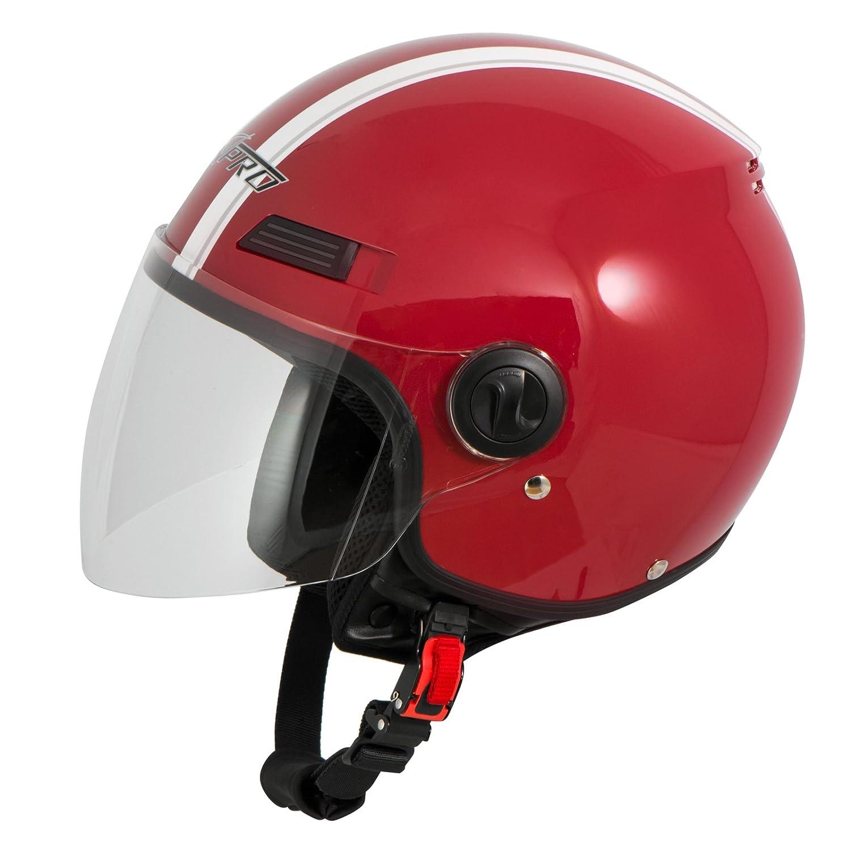 Casco Jet Scooter Moto Quad Omologato ECE 22 05 Visiera Argento L