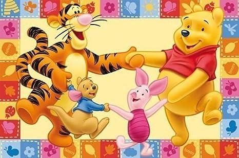 Kinderteppich / Spielteppich / Disneyteppich Disney Winnie Puuh Freunde  Tanzen - Kinder Teppich Kinderteppich Kinder Teppich Spielteppich darf in  ...