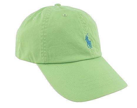 4f1c30e09f9 Polo Ralph Lauren Mens Classic Chino Embroidered Logo Ball Cap Green ...