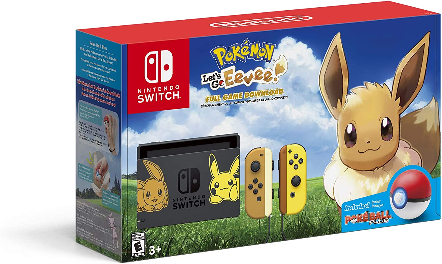 Amazon Com Nintendo Switch Console Bundle Pikachu Eevee Edition