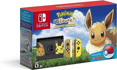 Pikachu & Eevee Edition with Pokemon: Let's Go, Eevee! + Poke Ball Plus - Nintendo Switch