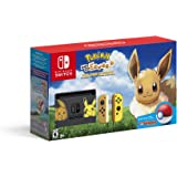 Nintendo Switch Console Bundle - Pikachu & Eevee Edition with Pokemon: Let's Go, Eevee! + Poke Ball Plus