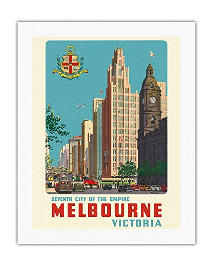 MELBOURNE CITYSCAPE NEW A2 CANVAS GICLEE ART PRINT POSTER FRAMED