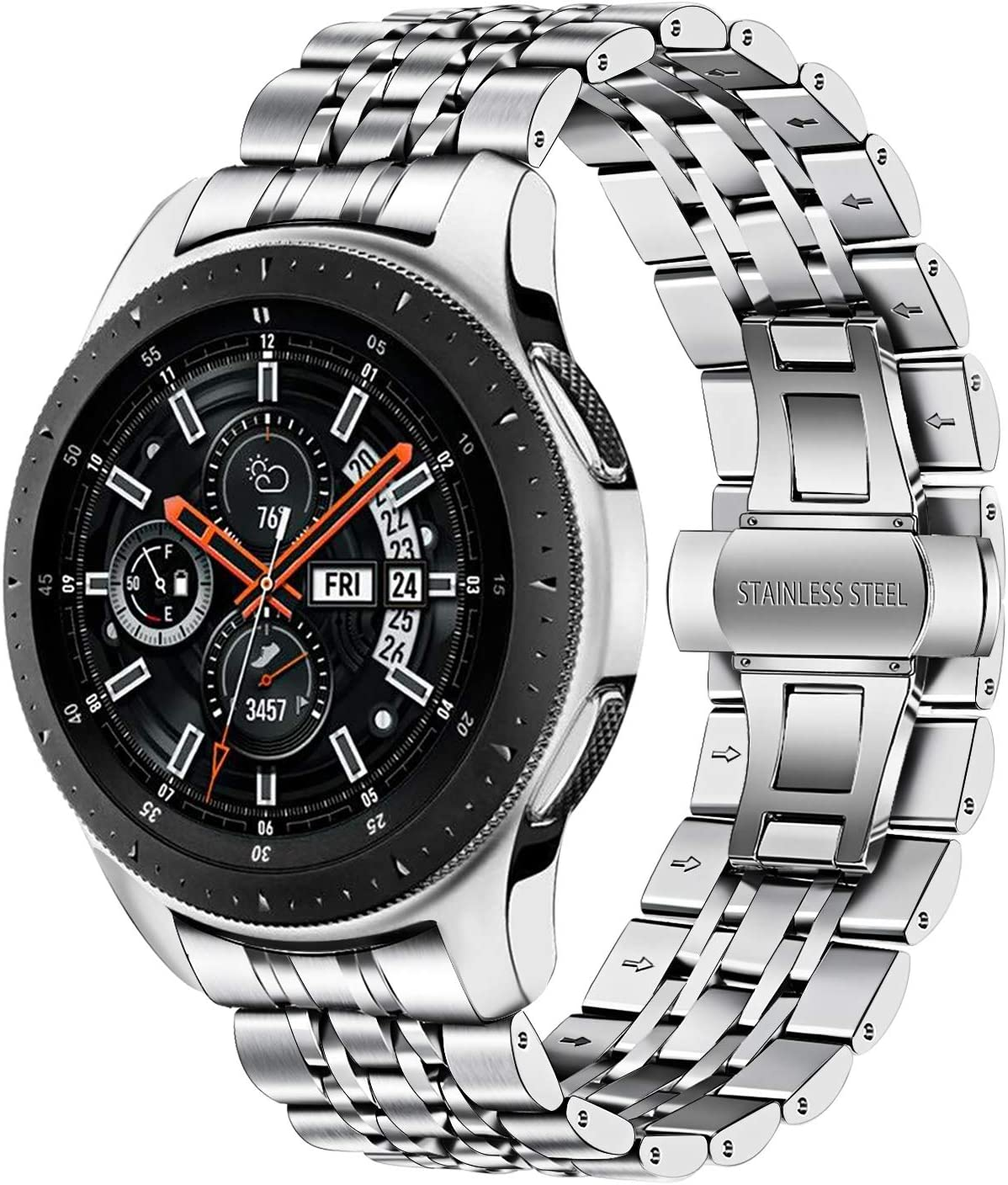 TRUMiRR Galaxy Watch 46mm Correa de Reloj de Metal, 22mm Correa de ...