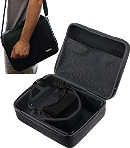 Navitech Black Heavy Duty Rugged Hard Case/Cover With Shoulder Strap Compatible With The HP Reverb VR Headset