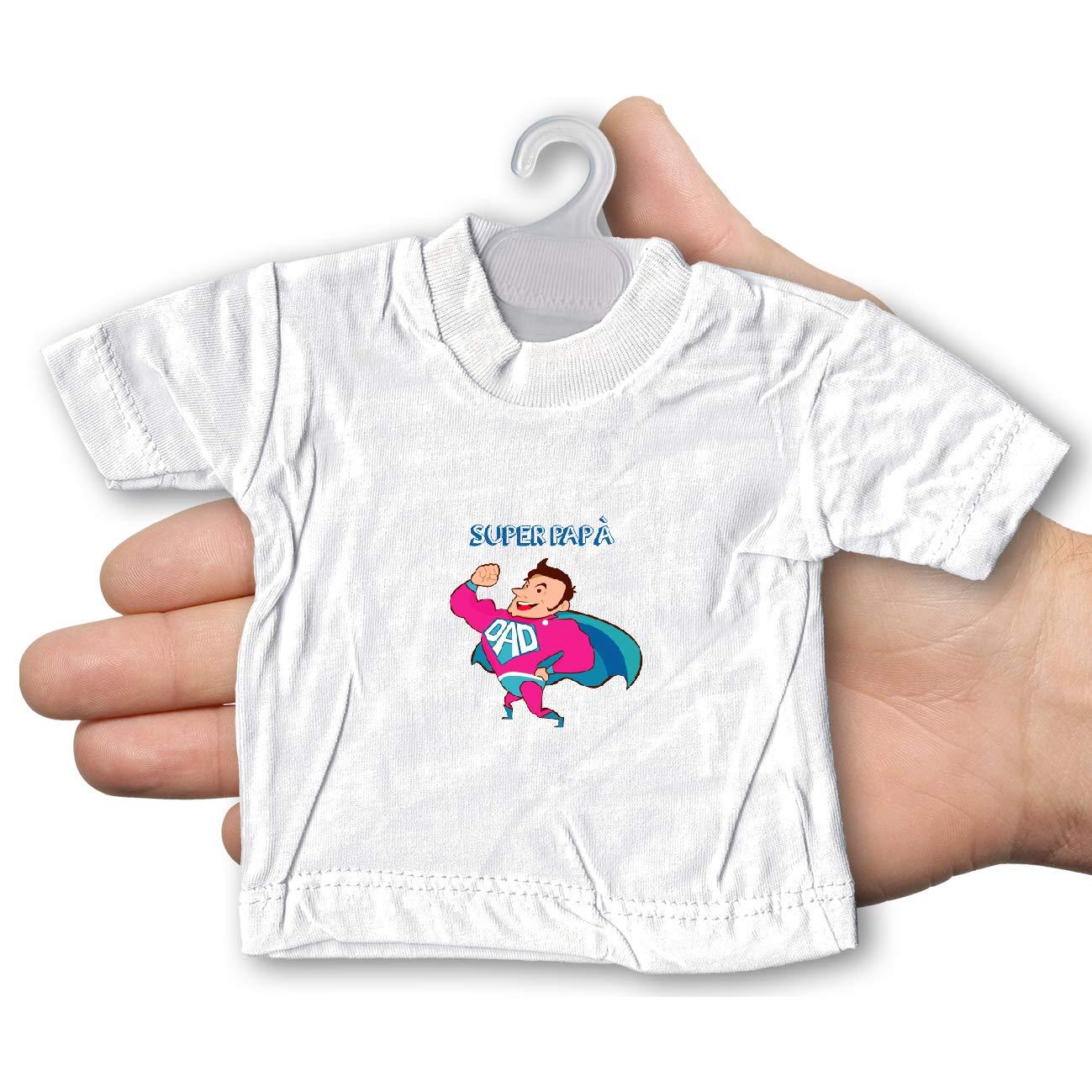 My Custom Style Mini T-Shirt per Auto #Festa del pap/à Auguri2# Azzurra