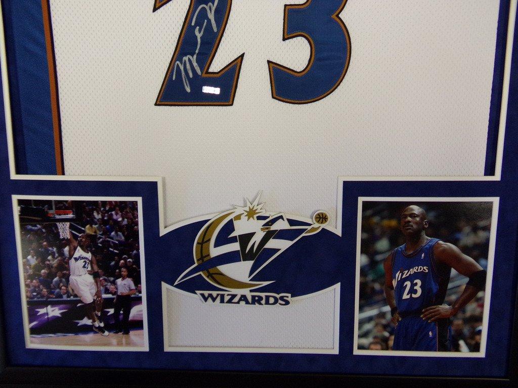 buy popular 4a00d 70ab8 Michael Jordan Washington Wizards Autograph Signed Custom ...