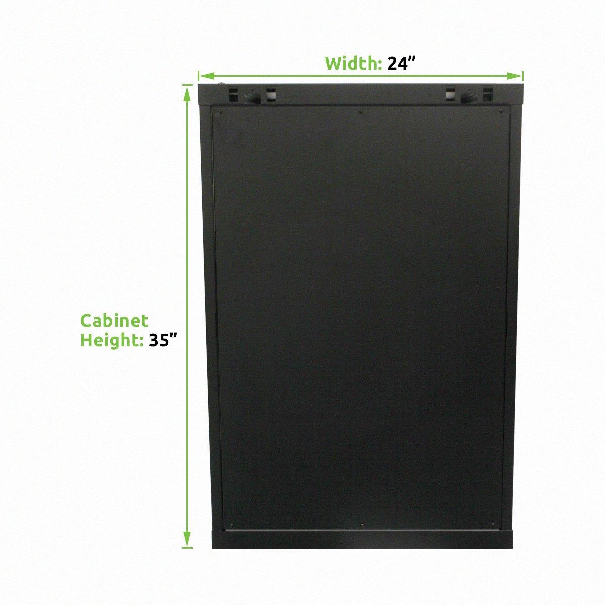 Amazon.com: Navepoint 18U Deluxe IT Wallmount Cabinet Enclosure 19 ...