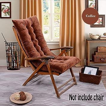 Cojín de respaldo alto para tumbona, mecedora, antideslizante, colchón de exterior 120 x 50 para jardín, tumbona, reclinable, interior y terraza.