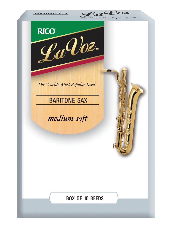 La Voz Baritone Sax Reeds, Strength Medium, 10-pack D'Addario &Co. Inc RLC10MD