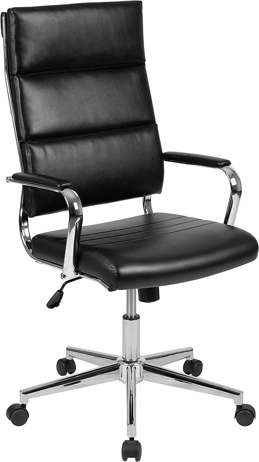 Flash Furniture High Back Black LeatherSoft Contemporary Panel Executive Swivel Office Chair
