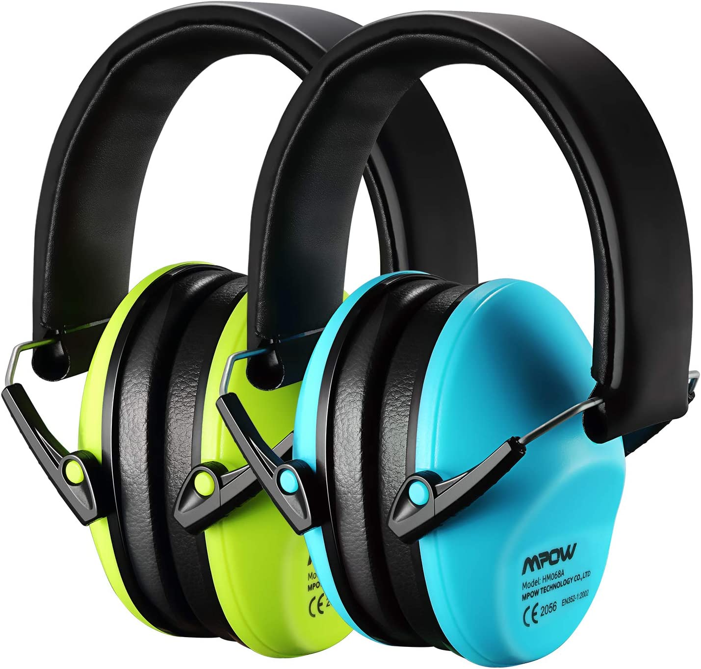 2Pack Mpow Kids Ear Hearing Protection NRR 25dB Noise Reduction For Child Travel