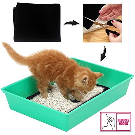 Spares2go - Filtro de carbón activo para gato, perro, bandeja de arena