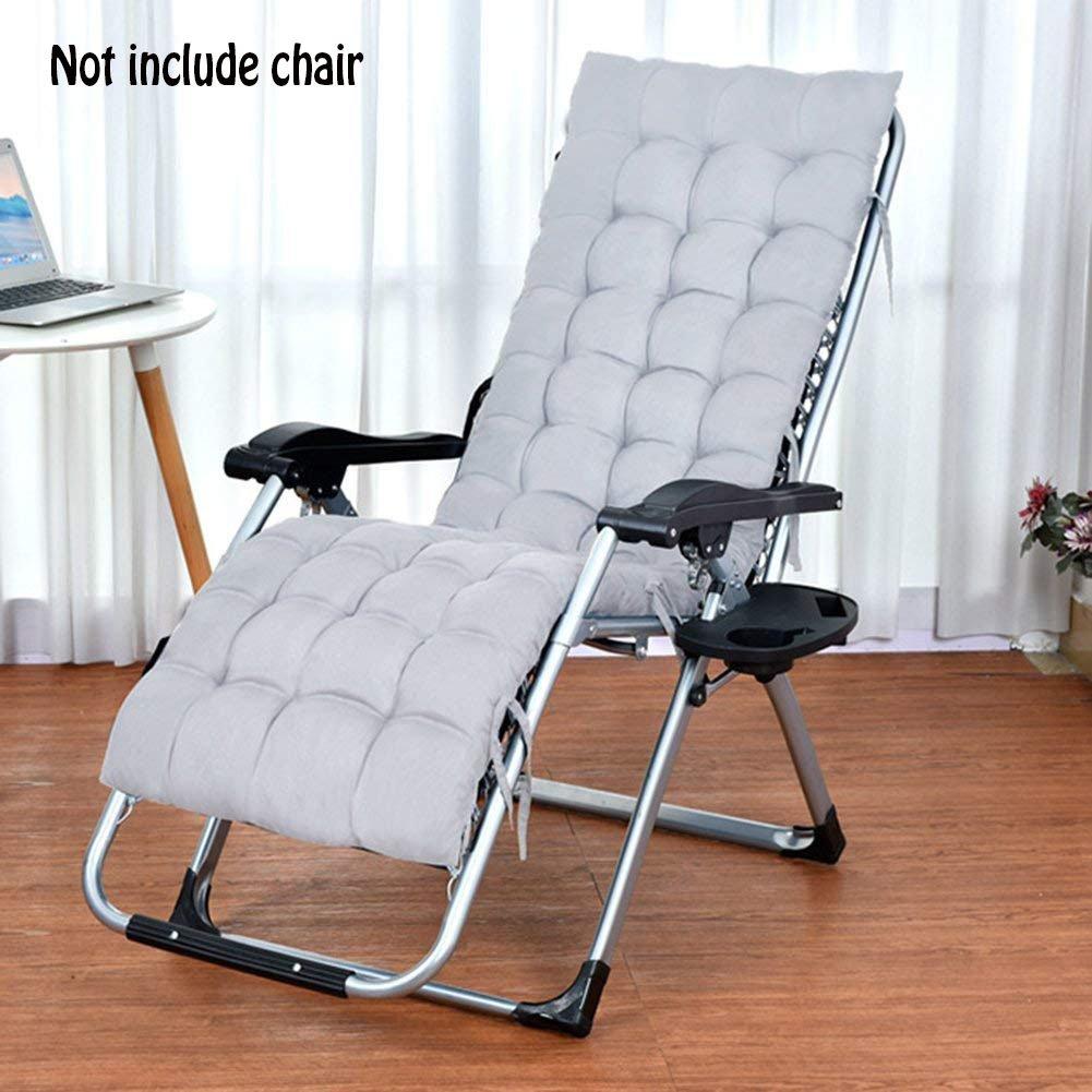 Respaldo alto asiento cojín, reclinable silla/tumbona silla cojín suave calor almohadilla absorbente transpirable para hogar, oficina, silla, coche y ...