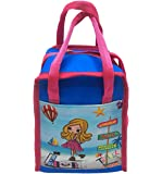 Shopaholic Attractive Super Star Tiffin Bag for Kids/Teenagers to Store Their Valuables-Many Design Available (Travel Girl Blue)