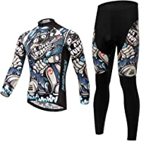 SKYSPER Ciclismo Maillot Hombres Jersey Pantalones Largos Culote