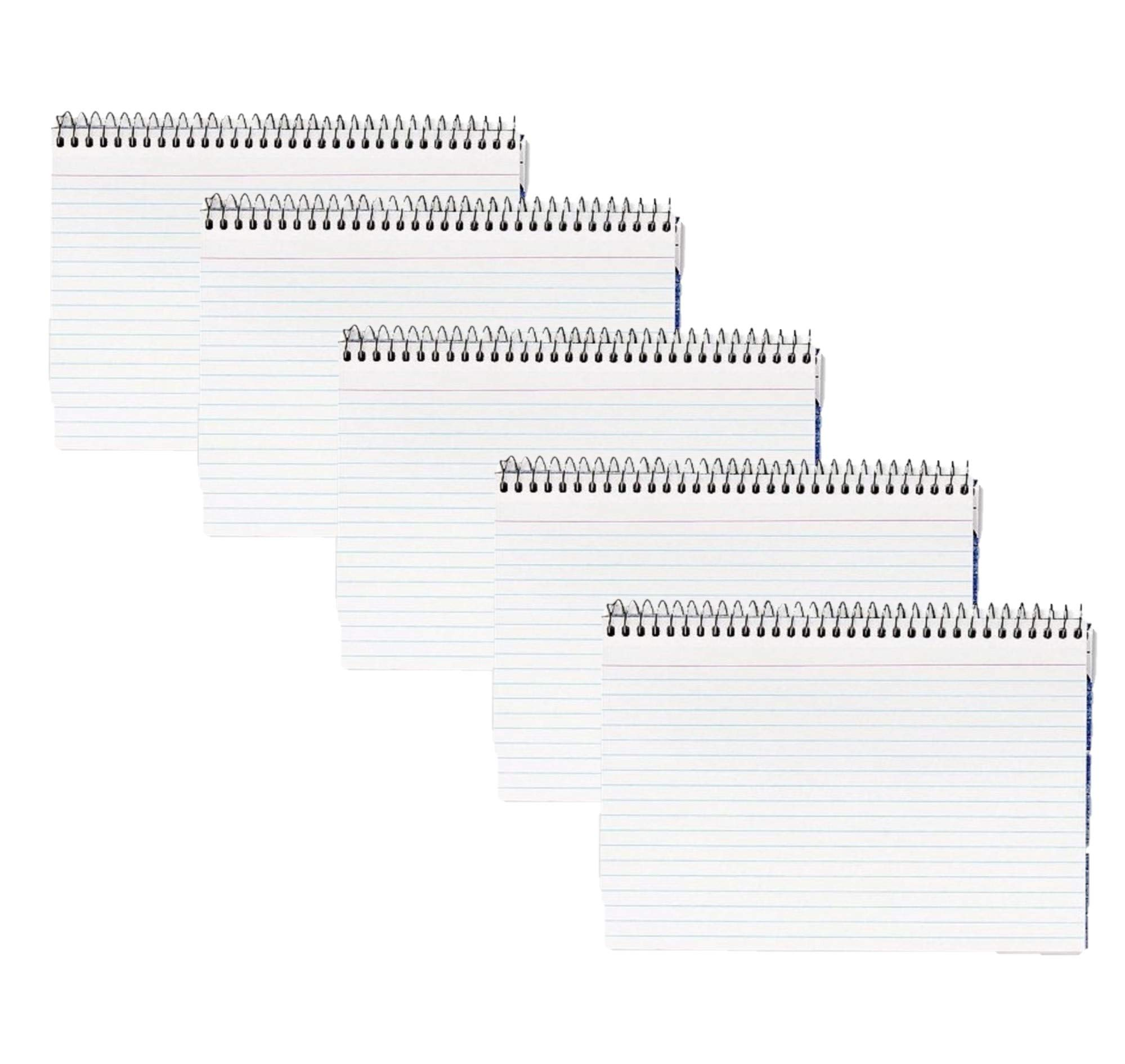 Oxford Spiral Index Cards, 4 x 6, White, 5 Pack of 50 Cards