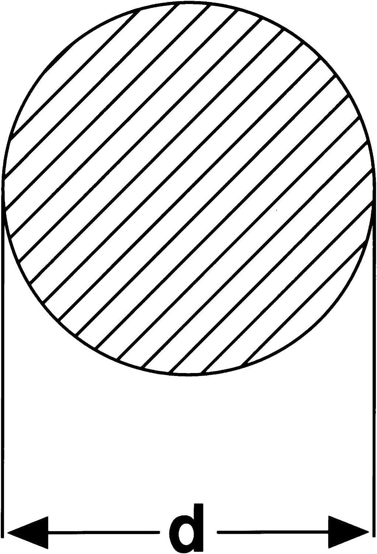 L/änge: 1000 mm Rundprofil Rundstahl Rundeisen gewalzt thyssenkrupp Rundstab aus Stahl Werkstoff: S235JR in /Ø 25 mm