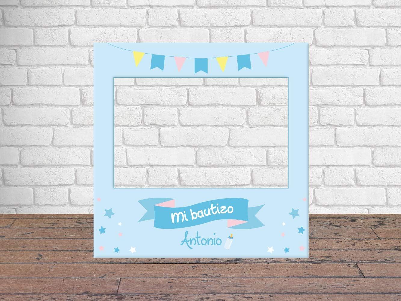 Photocall Bautizo 100 x100 cm | Regalos para Bautizos | Photocall Económico y Original | Ideas para Regalos | Regalos Personalizados de Bautizos