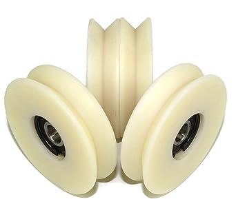 V80-20-12 - Lote de 4 ruedas de poliamida de nailon (80 mm de ...