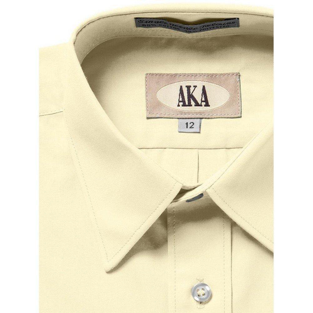AKA Boys 2-20 Regualr Fit Long Sleeve Solid Dress Shirt Colors