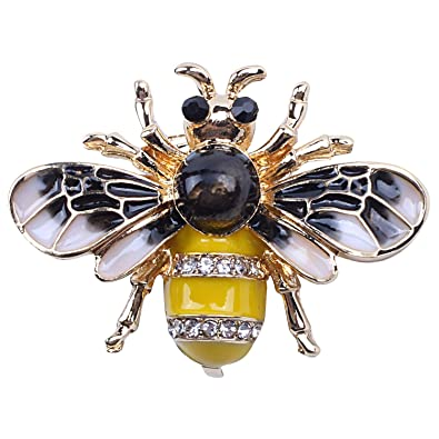 7edbfdb48 TOOGOO Fashionable Bumble Bee Crystal Brooch Pin Costume Badge Party ...