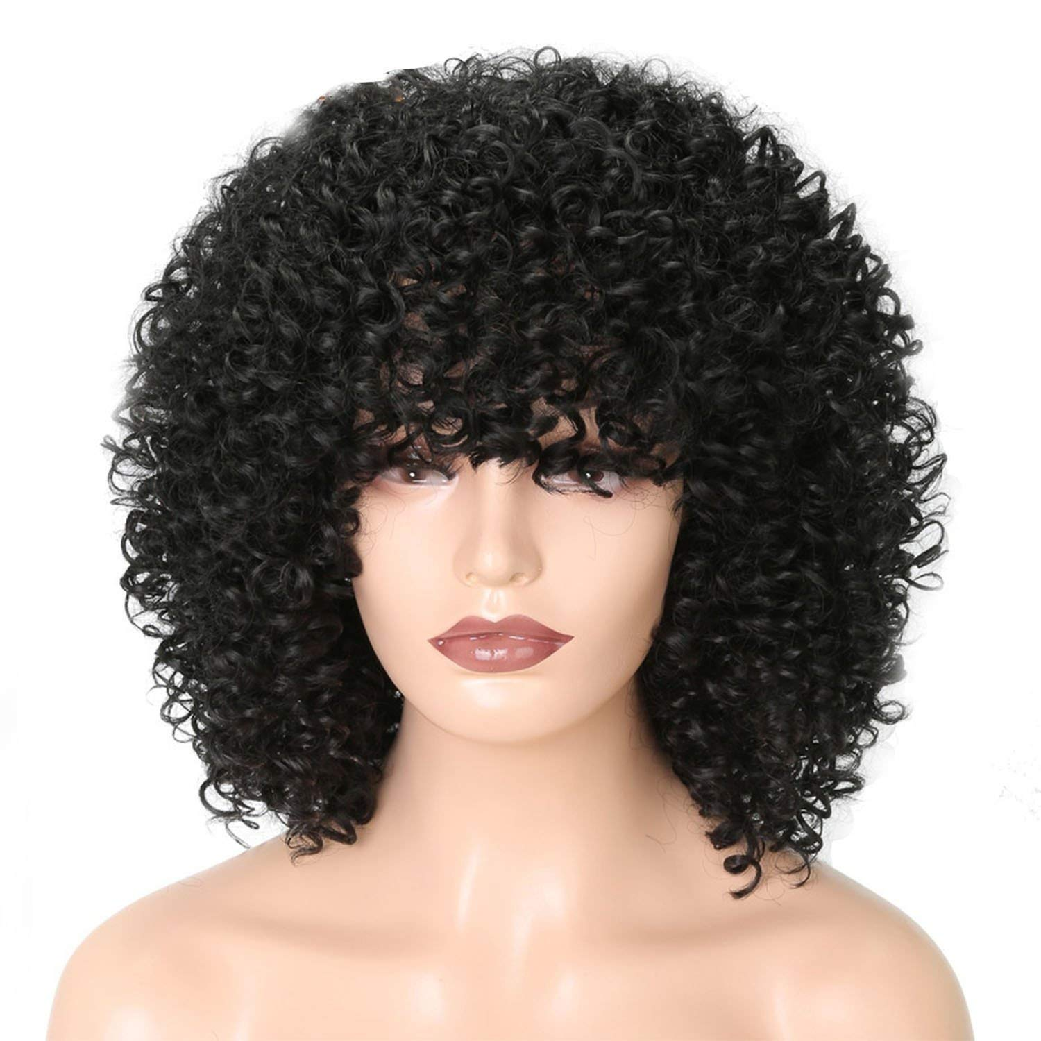 Amazon.com : Short Curly Hair Wigs Women African Hairstyles ...