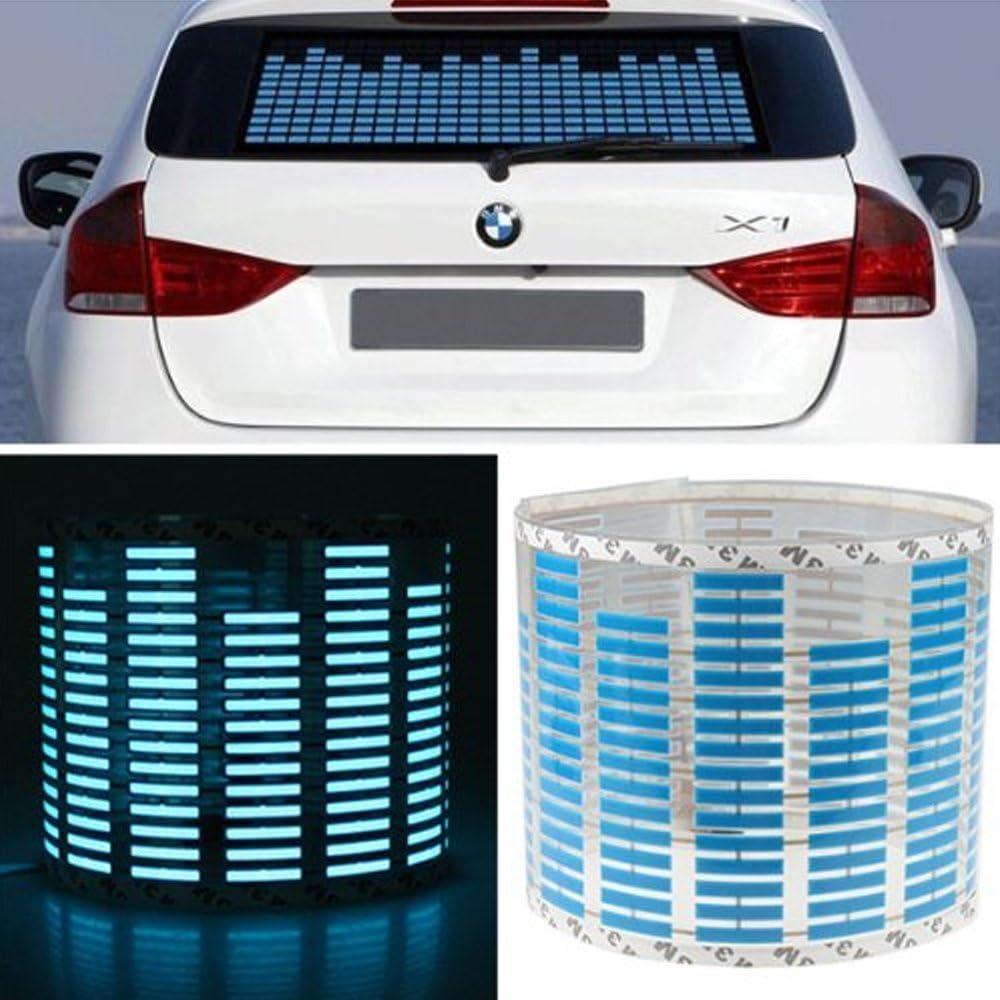 Mintice Trade 45 X 11cm Kfz Auto 12v Sound Musik Audio Aktiviert Sensor Autolicht Equalizer Leuchten Auto Aufkleber Musik Rhythm Bunt Led Auto