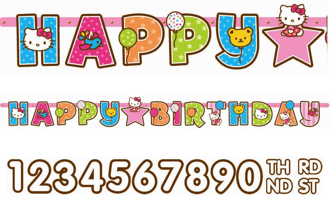 amazon com hello kitty balloon dreams birthday 8 ft letter banner