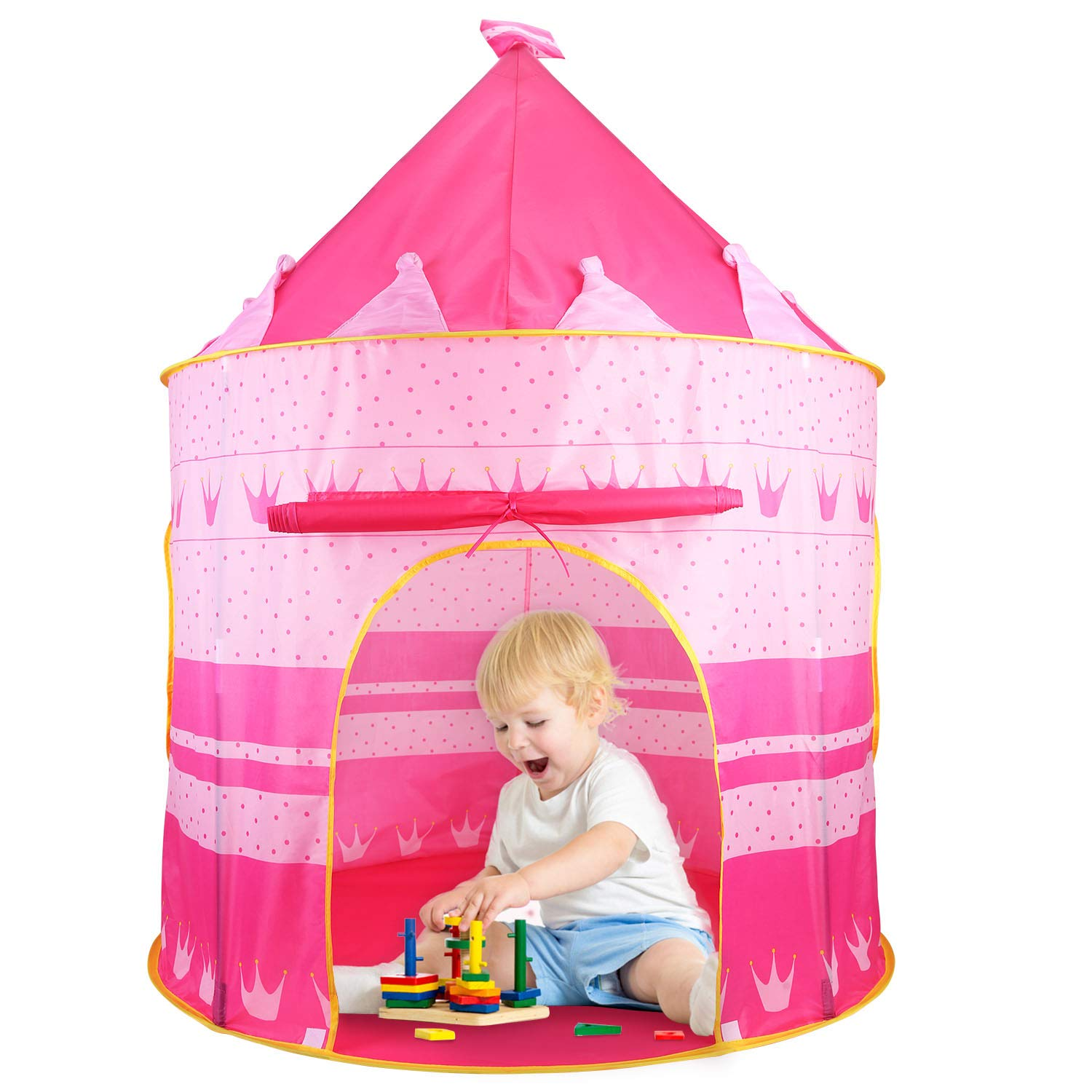 Castle Tent Play Tent Playhouse for Kids Indoor Outdoor Princess Castle Room Girls Toy Tents for Boys Kindergarten Games Gift for Children Portable Foldable ...  sc 1 st  Amazon.com & Amazon.com: Castle Tent Play Tent Playhouse for Kids Indoor Outdoor ...