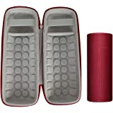 Khanka Hard Travel Case Replacement for Ultimate Ears UE Boom 3 Portable Bluetooth Wireless Speaker (red)