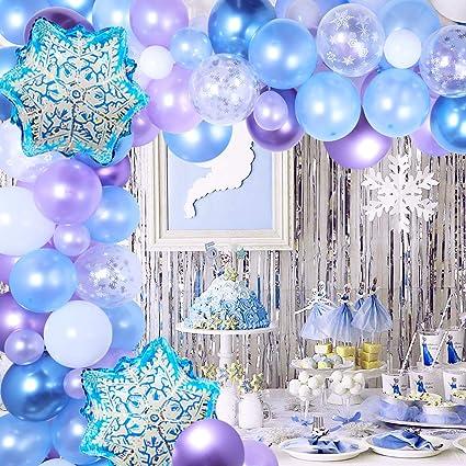 Christmas Tablecloth Princess Party Snowflake Tablecloth Princess Themed Winter Tablecloth Snowflake Decoration Princess Birthday