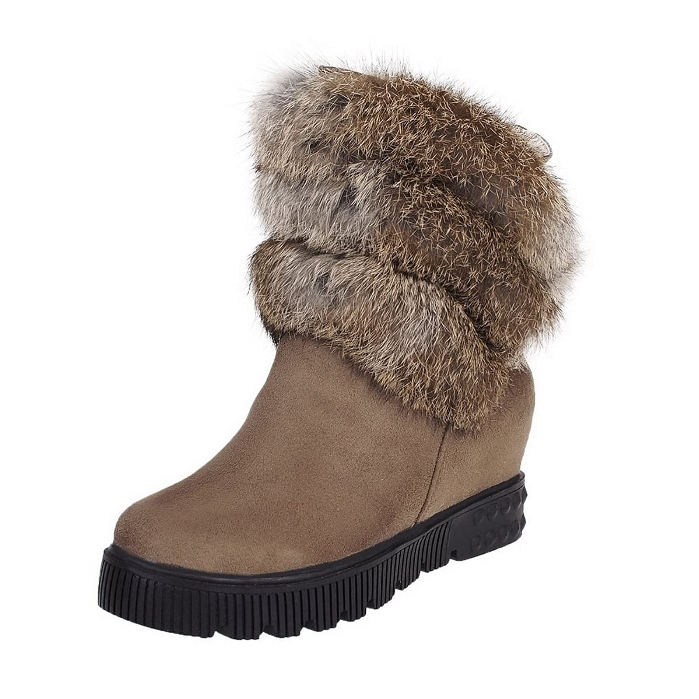 AdeeSu Womens Comfort Wedges Slip-Resistant Tassels Casual Urethane Boots SXC01758